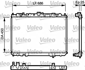 Valeo 735081 Radiador, refrigeración del motor