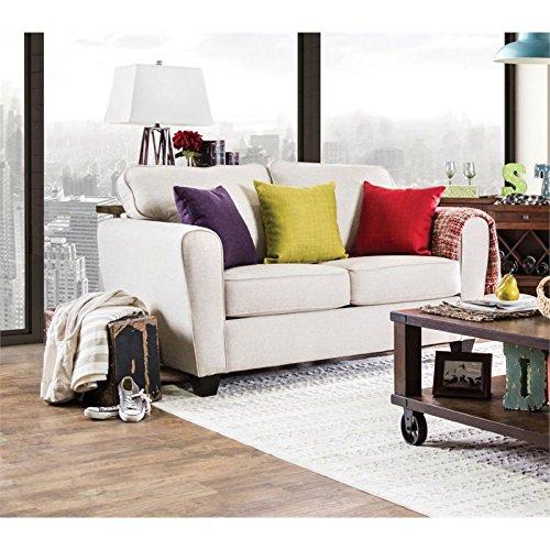 Furniture Of America Dawson Fabric Loveseat In Beige Best Sofas Online Usa