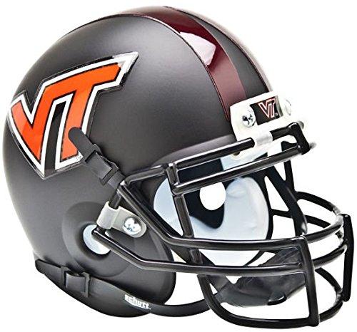 (NCAA Virginia Tech Hokies Collectible Alt 1 Mini Helmet, Matte Black)