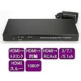 HDMI デジタルオーディオ分離器 7.1ch対応 トスリンク光&RCA出力【HDMI-AEX7.1ch】