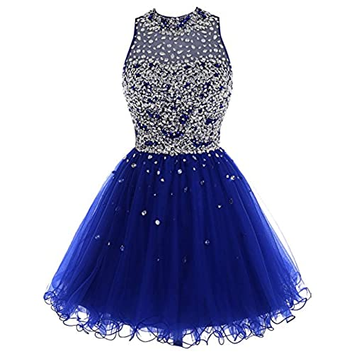 Bbonlinedress Short Tulle Beading Homecoming Dress Prom Gown Royal Blue 4