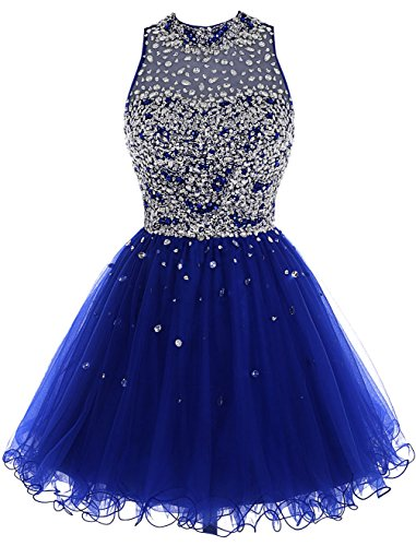 Bbonlinedress Short Tulle Beading Homecoming Dress Prom Gown Royal Blue 10