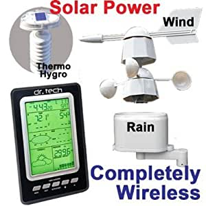 dr. Tech Wireless Weather Station with Solar Transmitter WA-1080