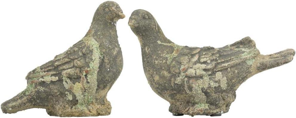 Esschert Design AC Taube Moos Figurine de Jardin en Terre Cuite 22,4 x 9,4 x 13,9//17,4 x 8,7 x 16,6 cm