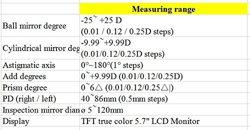 Huanyu Automatische scheitelbrechwertmesser LCD grün grün grün Lichtquelle Smart lensometer focimeter Gläser Meter Optometrie Equipment, 220V, 1 B077GVLRGW Multifunktionswerkzeuge Hohe Qualität und Wirtschaftlichkeit 5da23e