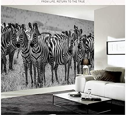 Modern Simple Retro Black White 3d Wall Paper Decorative Painting