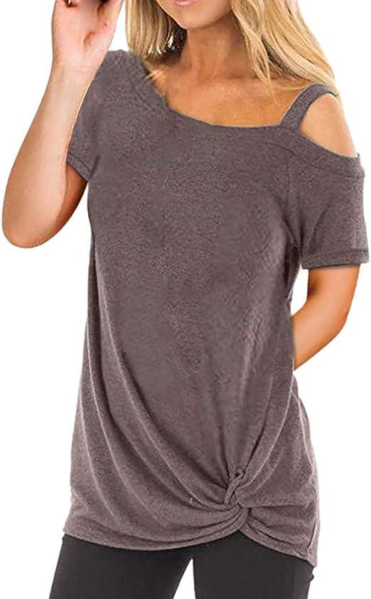 Camisetas Mujer Manga Larga Sexy Ronamick Verano Blusa Blanca Niña Tops Mujer Deporte Verano Camisa Cuadros Mujer (café,XXL): Amazon.es: Iluminación