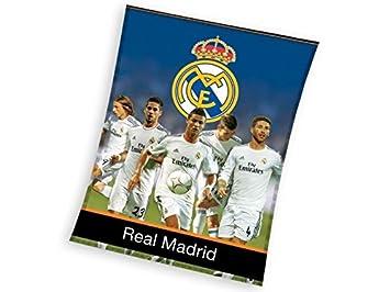 EXCLUSIV * Real Madrid Manta Polar Cristiano Ronaldo Ramos Modric Bale Colcha (inoxidable