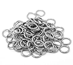 PEPPERLONELY Brand 200PC Stainless Steel Open Jump Rings 10mm