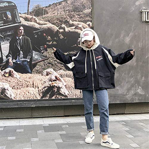 Giacca Con Ragazze Tendenza Tasche Maniche Giacche Primaverile Schwarz Autunno Stampate Lannister Cappuccio Fashion Incappucciato Outerwear Cappotto Ragazza Harajuku Eleganti Casual Lunghe Donna 4w0ZnxUpp8