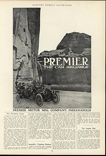 (Premier Motor Reliable Automobile Scenic Drive 1911 antique historic print)