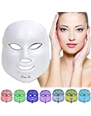 LED Face Mask,Light Therapy Acne Mask,LED Facial Mask,Phototherapy Mask,LED Electric Facial Mask,7 Color Light Treatment, Mask for Treatment of Acne, Spots, Blackhead, Skin Blemishes