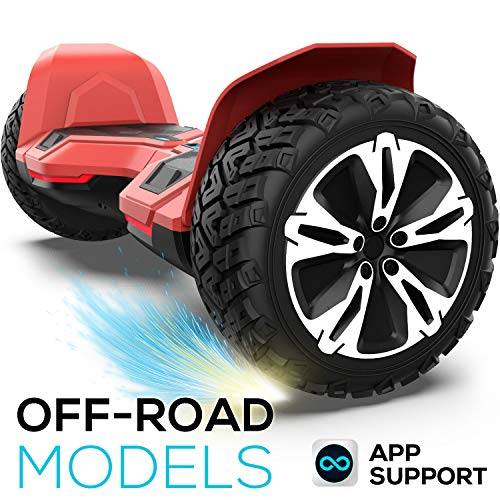 8.5 inch Warrior G2 Hoverboard Smart Self Balancing Scooter with Music Speaker and App-Enabled Hoverboard UL2272 Certificated All Terrain Off Road LED Lights