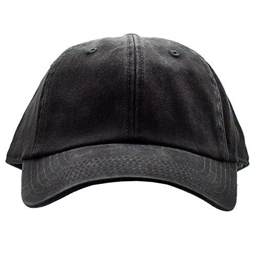 American Needle Baseball Cap - American Needle Blank Ragaln Washed Hat in Black