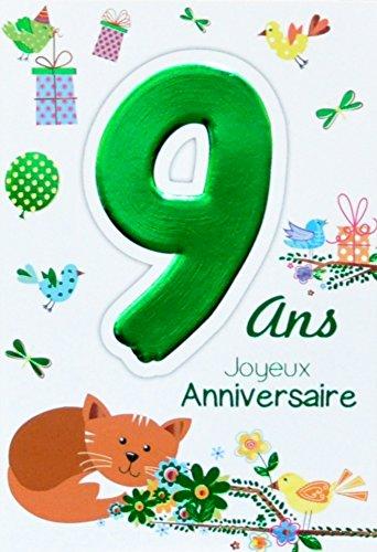 Age Mv 69 2009 Carte Joyeux Anniversaire 9 Ans Enfant Garçon