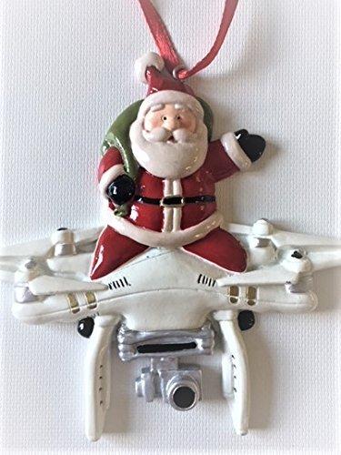 Image Unavailable - Amazon.com: Santa Claus Flying Riding Drone Christmas Tree Ornament