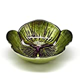 Red Pomegranate 4619-8 Side Set/4 Pansy 6'' Green Purple Bowls