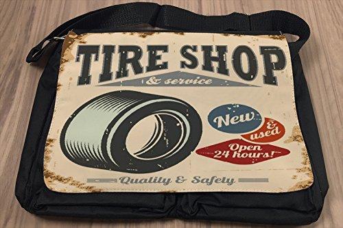 Borsa Tracolla Epoca Auto Negozio di pneumatici Stampato