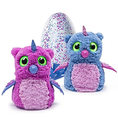 Hatchimals Hatching Egg Interactive Creature Owlicorn Baby Toy, Pink/Blue by Hatchimals (Image #2)