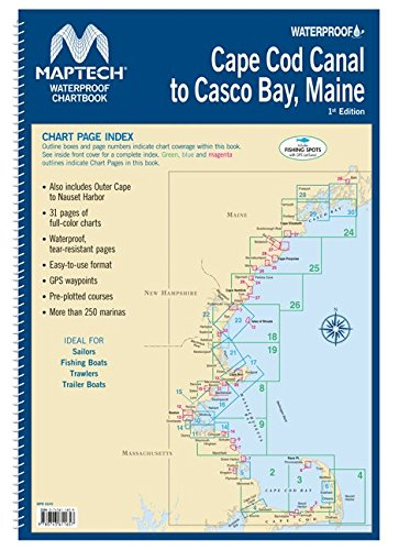 Cape Cod Canal to Casco Bay, Maine Waterproof - Maptech Chart