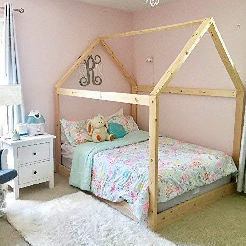 House Bed Frame Full Size PREMIUM WOOD