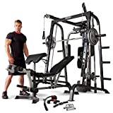Marcy MD-9010G Home Gym Smith Machine Black - Removable...