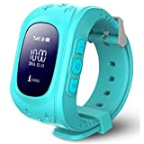 Voberry® Anti-lost Children Smart Watch GPS Positioning Bluetooth Wrist Watch For Android (Blue )