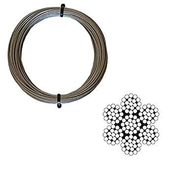 Galvanised Catenary Wire Kit Westward Rope and Wire 5 Metre 5mm 6x7FC