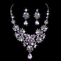 Gbell Clearance! Charm Wedding Bridal Crystal Necklace Earrings Jewelry Set Fine Rhinestone Women