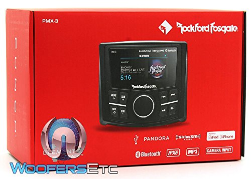 Rockford PMX-3 Punch Marine/Motorsport Compact Digital Media Receiver w/ 2.7'' Display by Rockford Fosgate (Image #4)