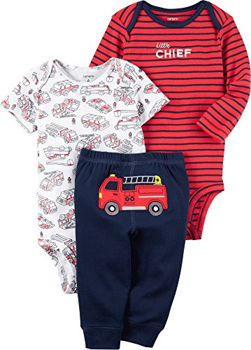 Carter's Baby Boys' 3-Piece Fire Truck Set 3 Months (Truck Fire Infant)