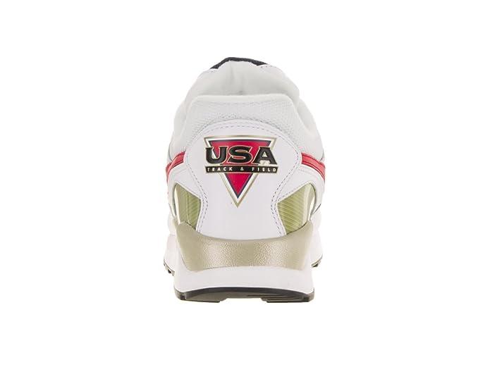 Amazon.com   Nike Mens Air Pegasus 92 Premium White/University Red/Midnight Navy Running Shoe 13 Men US   Road Running