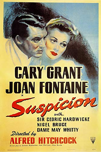 American Gift Services - Suspicion Cary Grant Joan Fontaine Vintage Movie Poster - 24x36