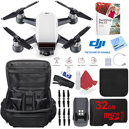 DJI Spark Alpine White Quadcopter Drone 32GB Photo Creator Bundle by DJI