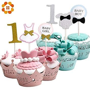 Topsame - 12 Adornos para Cupcakes, para bebé, niños y niñas ...