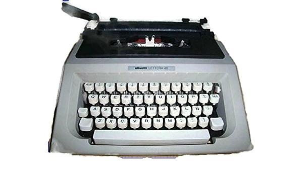 Maquina de escribir OLIVETTI LETTERA 40 Vintage: Amazon.es ...