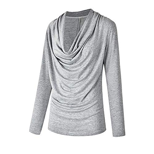 MEIbax 2018 Moda Mujer sšLIDA Moda Manga Larga Capucha Cuello Oto?o Invierno Camiseta Outwear Tops Blusa Promocional de Tops Personalizados: Amazon.es: Ropa ...