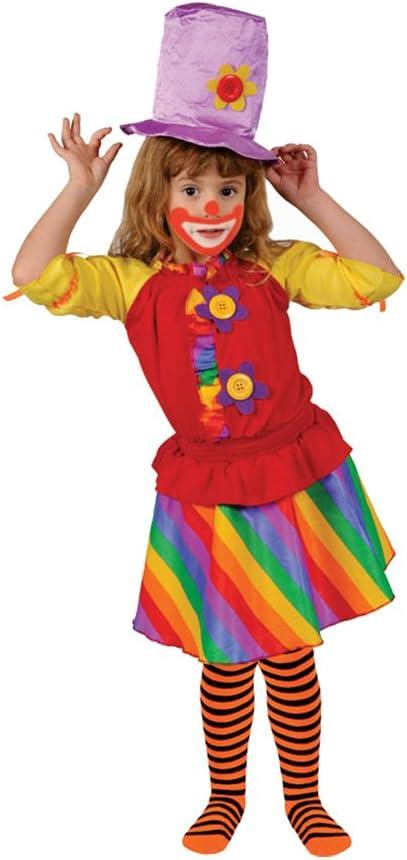 Dress up America Disfraz de Payaso niña del Arco Iris: Amazon.es ...