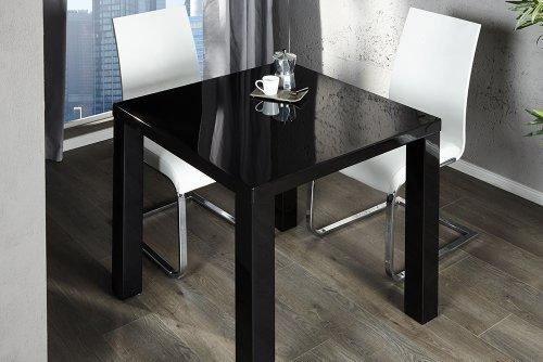 Esstisch schwarz  Designer Esstisch Lucente hochglanz schwarz 80 x 80: Amazon.de ...