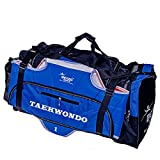 Karate Taekwondo Sparring Gears Sports Duffle Bag (BLUE/BLACK)