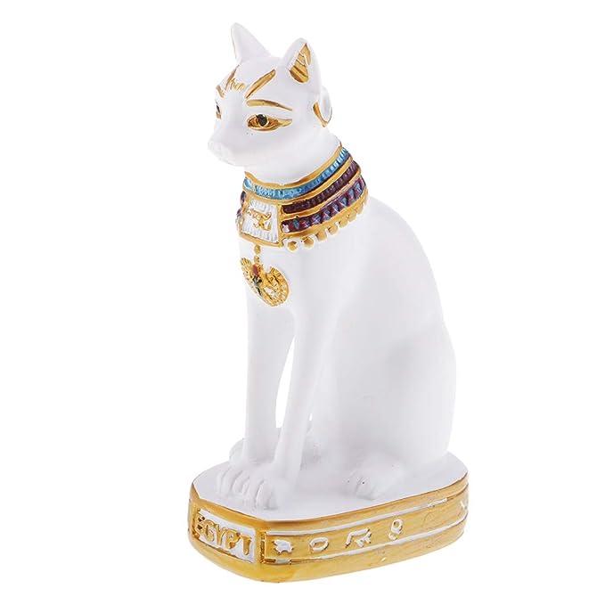 FLAMEER 2 Piezas de Gato Egipcio Estatua Tallada en Madera Tallada a Mano de MAU Decoración: Amazon.es: Juguetes y juegos