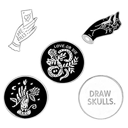 Skull Lapel Pin Badge Pin 5pcs Arts,crafts & Sewing Home & Garden