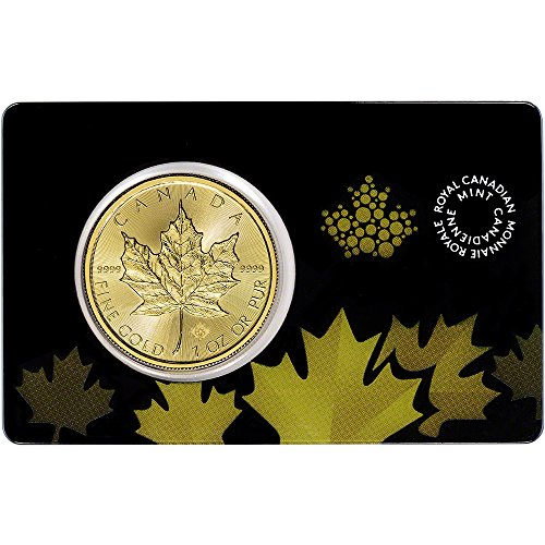 Gold Maple Leaf (2015 CA Gold Maple Leaf 1 oz in Sealed Assay Card $50 Brilliant Uncirculated Royal Canadian Mint)
