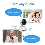 Wireless Home Camera,720P WIFI Network Indoor Security Surveillance Camera for Baby /Elder/ Pet/Nanny Monitor, Pan/Tilt, 2-Way Audio ,Motion Detection & Night Vision (White) (White)