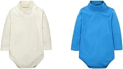 Couleur Al/éatoire CuteOn 3//5//7 Packs b/éb/é Enfant Nouveau n/ée Coton Col roul/é Top Bodysuit Cadeau Set