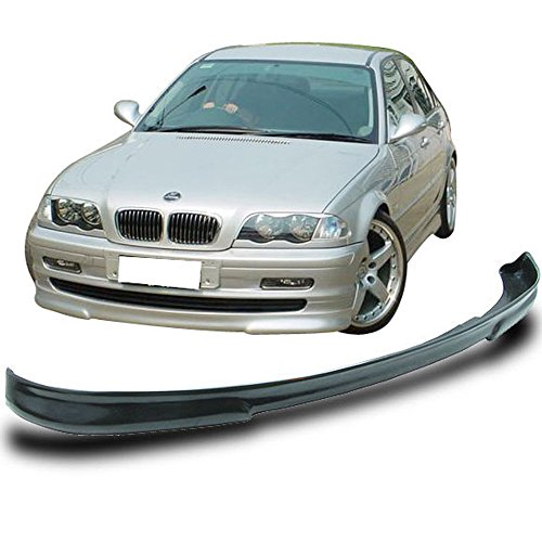 Front Bumper Lip Fits 1999-2001 BMW 3 Series E46 | H2 Style Air Dam Chin Spoiler Unpainted Poly Urethane PU by IKON MOTORSPORTS ()