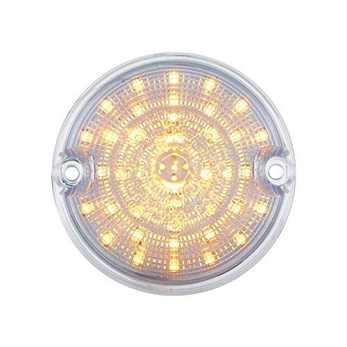 United Pacific 1955 1956 1957 Chevy Truck Amber Led Parking Light, Clear Lens - 55 56 57 ()