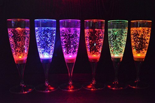 Led Light Champagne Glasses in US - 1