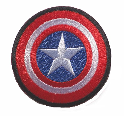 captain america avengers shield LOGO sew iron on Patch Badge Embroidery 7x7cm 3