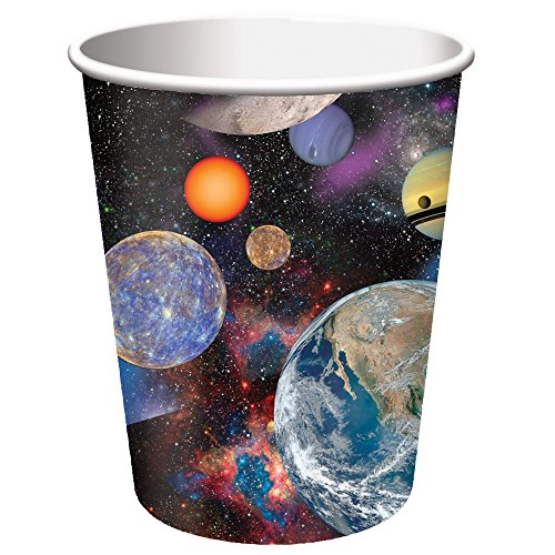 [Creative Converting Space Blast Hot/Cold Cups (8 Count), 9 oz] (Space Themed Costume Ideas)